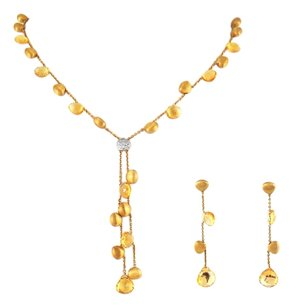 Marco Bicego Citrine 18k. Gold Necklace Earrings Set