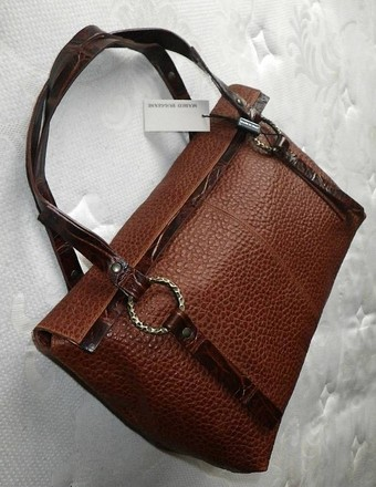 Marco Buggiani Coach Louis Vuitton Dooney Bourke Gucci Rare Satchel in Browns/COGNAC