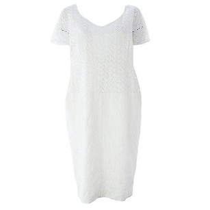 Marina Rinaldi short dress White Shift on Tradesy