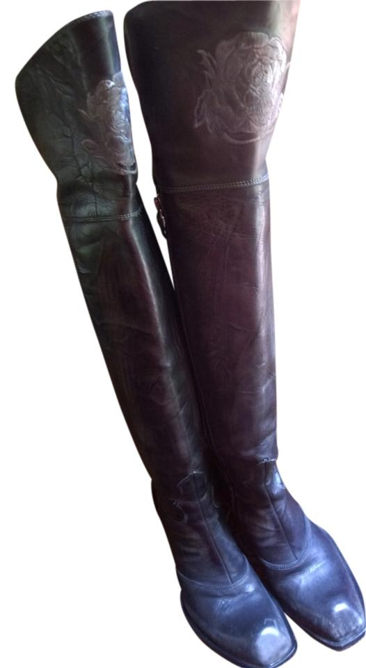 Mark Nason gray over the knee boots