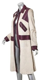 Marni Womens Light Taupered Suede Leather Zip Jacket 448 Coat
