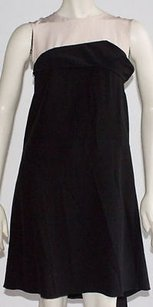 Marni short dress Black Beige Silk on Tradesy
