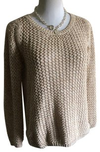 Massimo Dutti Top Nude and gold