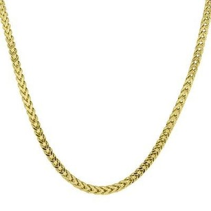 Master Of Bling 10k Real Yellow Gold Mm Franco Cuban Box Link Necklace Chain Mens Inch