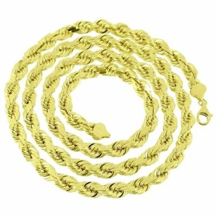 Master Of Bling 10k Yellow Gold Necklace Mm Solid Rope Chain Designer Lobster Lock Mens 30