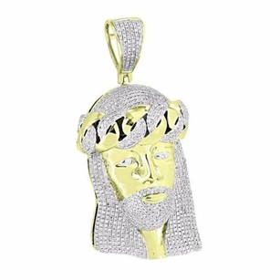 Master Of Bling Miami Cuban Jesus Christ Pendant Iced Out Genuine Diamonds Christ Face High End