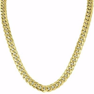 Master Of Bling Miami Cuban Link Necklace 10k Yellow Gold Mens Inch Chain Mm