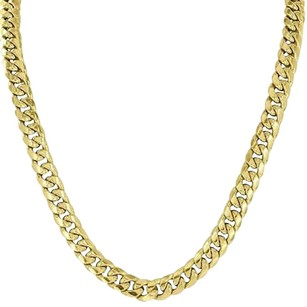 Miami Cuban Link Necklace 10k Yellow Gold Mens Inch Chain Mm