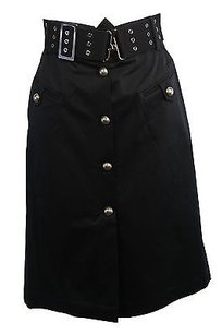 Max and Cleo Womens Cotton Skirt black