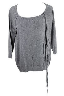 Max & Co. Womens Grey Wool Blend Top gray