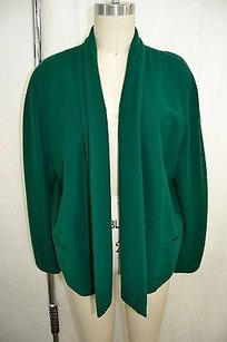 Max Mara Wool Open Green Jacket