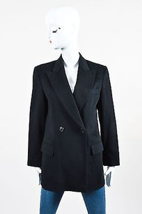 Max Mara Max Mara Black Wool Double Breasted Ls Blazer Jacket