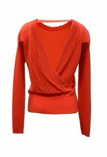 Max Mara Nwd Red Draped Open Sweater