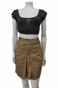 Mayle Front Pleat Skirt Olive Green
