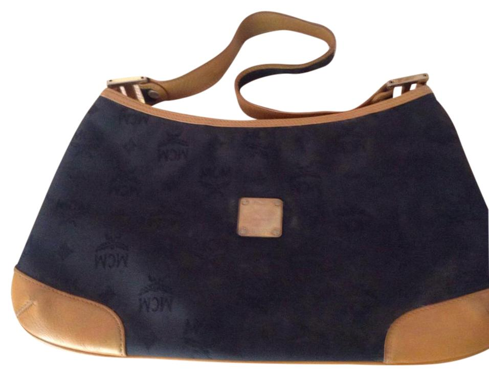 MCM Handbag With Brass Accents.