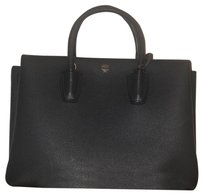 MCM Satchel in Phantom Gray