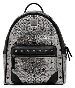 MCM Studded Leather Chic Trendy Backpack