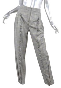 MCQ by Alexander McQueen Multicolor Houndstooth Plaid Wool Fringe 382 Pants