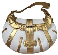 Melie Bianco Satchel in White And Gold