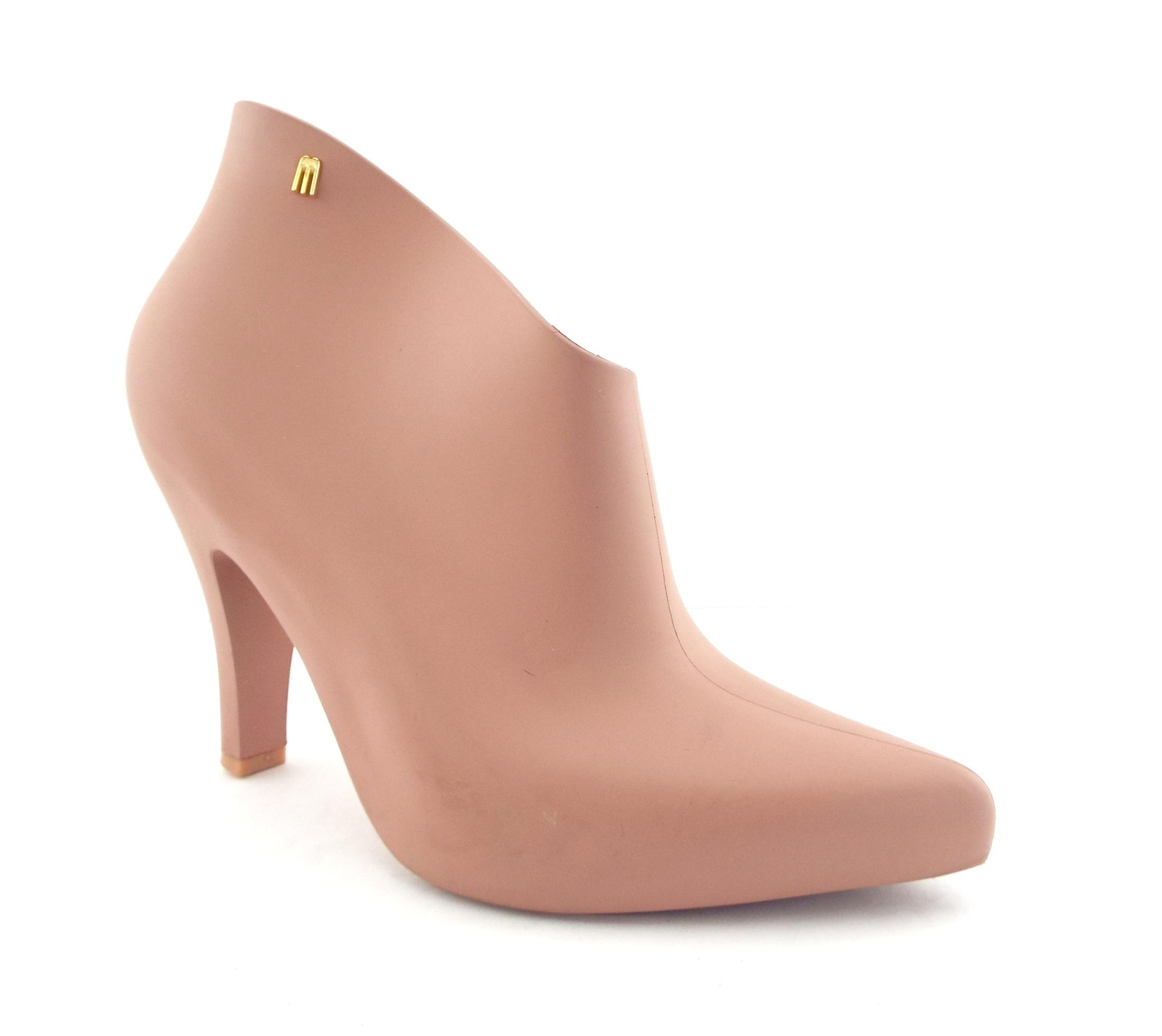 Melissa Nude Jelly Rubber Cut-out Ankle Boots/Booties Size US 9 Regular (M, B)