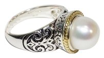 Meredith Leigh Meredith Leigh 14k Gold and 925 Sterling Silver FW Pearl Ring