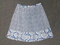 MICHAEL Michael Kors Geometric Print 8p Sma3603 Skirt Blue And White