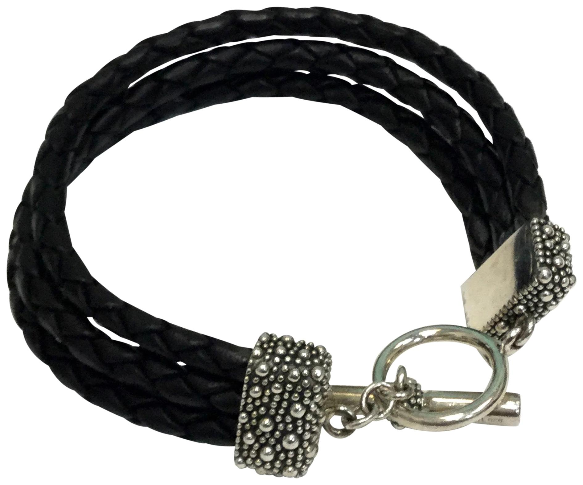 multi-stranded woven bracelet - Black Saint Laurent xPINmH