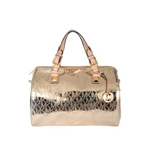 Michael Kors 100% Satchel in Pale Gold