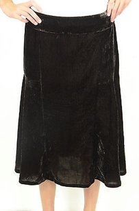 Michael Kors Crushed Velvet Skirt Brown