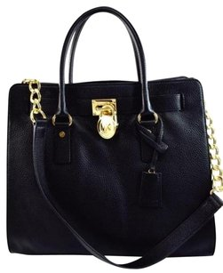Michael Kors Pebbled Leather Tote in Black