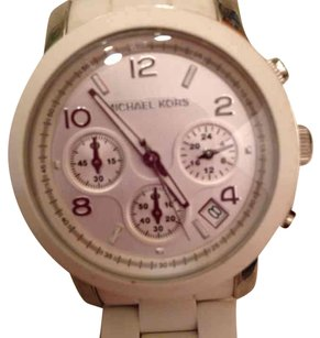 Michael Kors Authentic white rubber watch