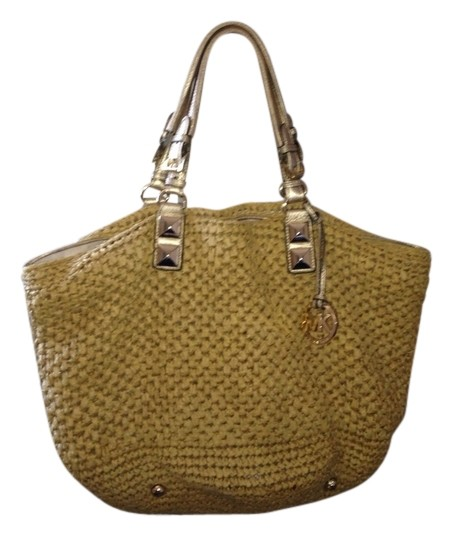 Michael Kors Beach Beige /gold Beach Bag on Sale, 65% Off | Beach ...