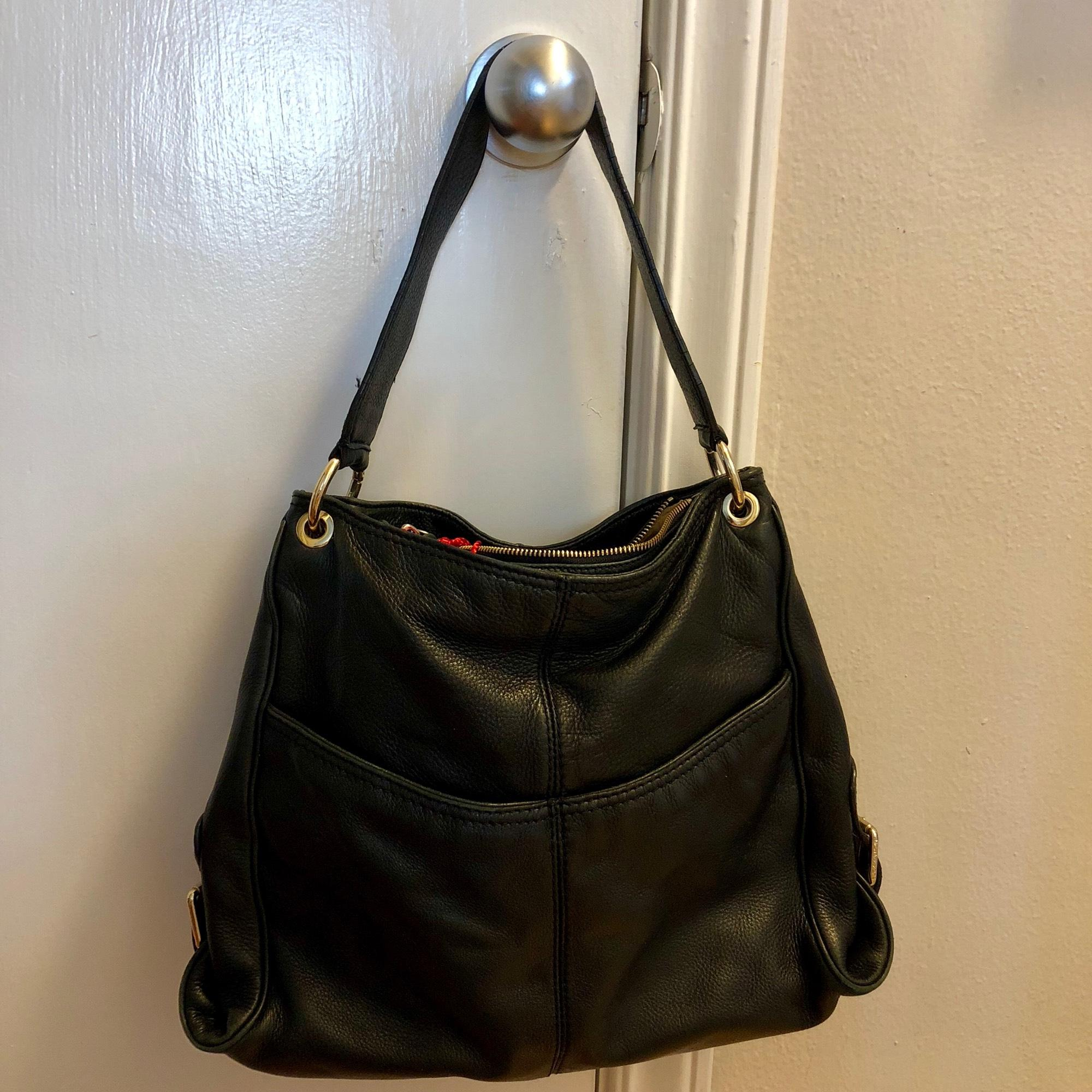 f51310783ec6 ... coupon code for michael kors black leather hobo bag tradesy bf638 35f57  ...