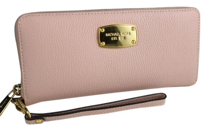 89e81e3d6549 ... best price michael kors michael kors jet set travel continental leather  blossom pink wallet wristlet nwt