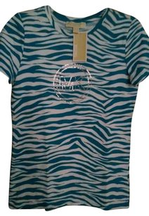 Michael Kors T Shirt Blue and White