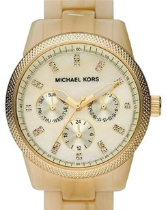 Michael Kors BRAND NEW WOMENS MICHAEL KORS (MK5039) RITZ RESIN HORN CHRONOGRAPH WATCH