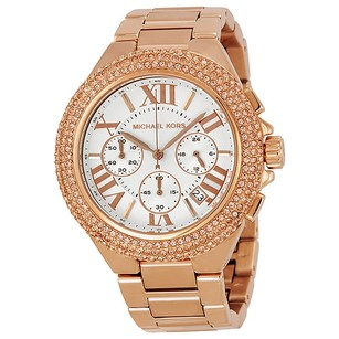 Michael Kors Camille Chronograph Rose Gold-tone Ladies Watch