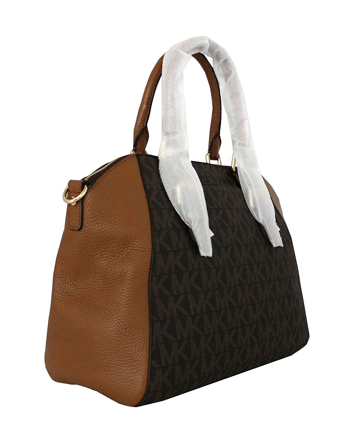 c86a0f500b ... best michael kors signature ciara satchel in brown acorn.