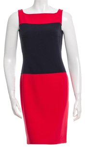 Michael Kors Color-blocking Sheath Wool Dress