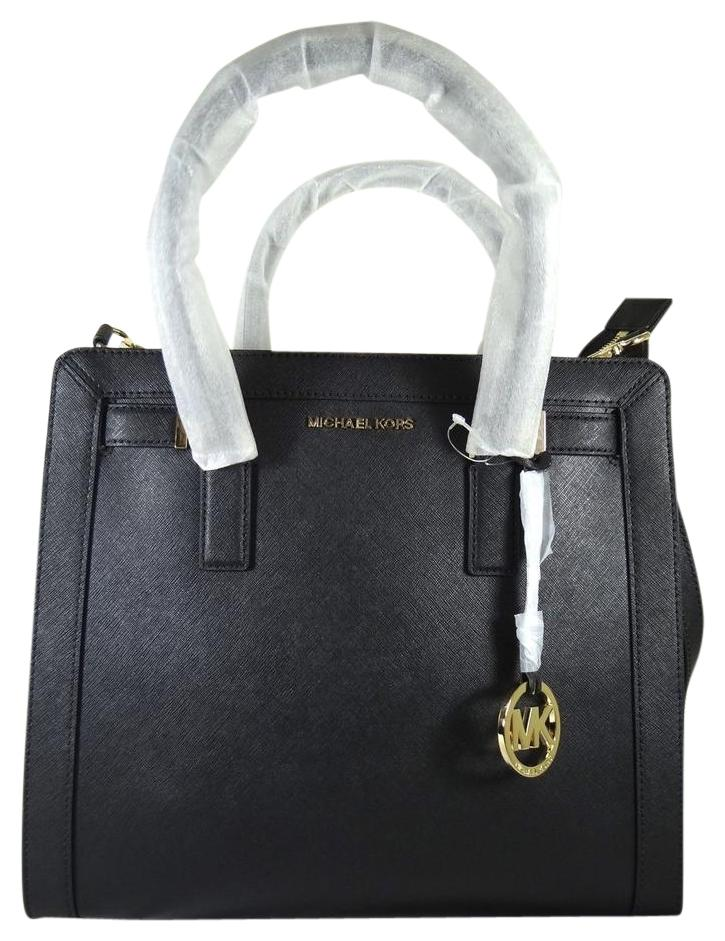 Michael Kors Mk Dillon Top Zip Saffiano Leather 191262018688 Tote in Black  ...