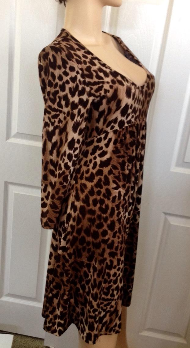 Michael Kors Leopard Baby Doll Knee Night Out Dress