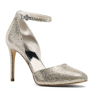 Michael Kors Glitter Date Night Chic Classic Night Out Silver Pumps