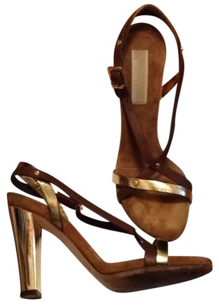 Michael Kors Gold/Brown Sandals
