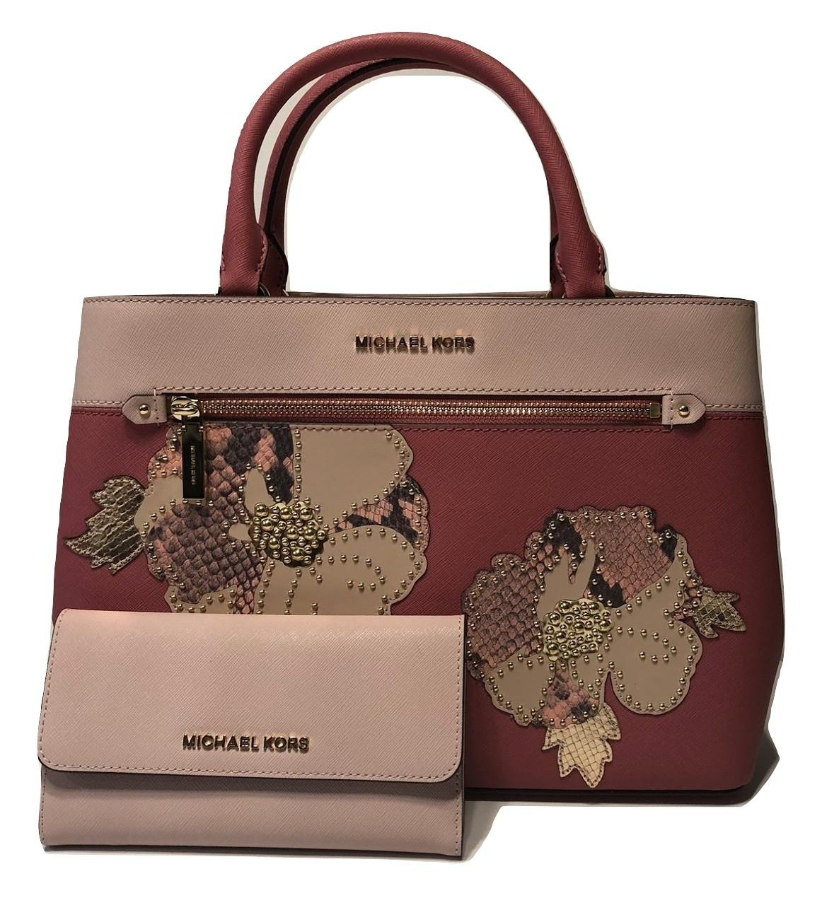 Michael Kors Hailee Bundled with Trifold Wallet Tulip ...