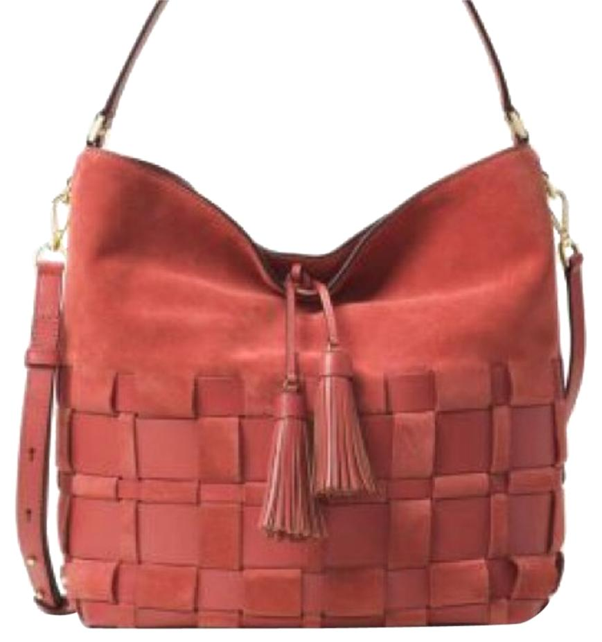 Michael Kors Large Woven Suede And Leather Hobo Bag on Sale, 24 ...