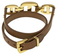 Michael Kors MICHAEL KORS Maritime Gold-Tone And Leather Bracelet MKJ4440710