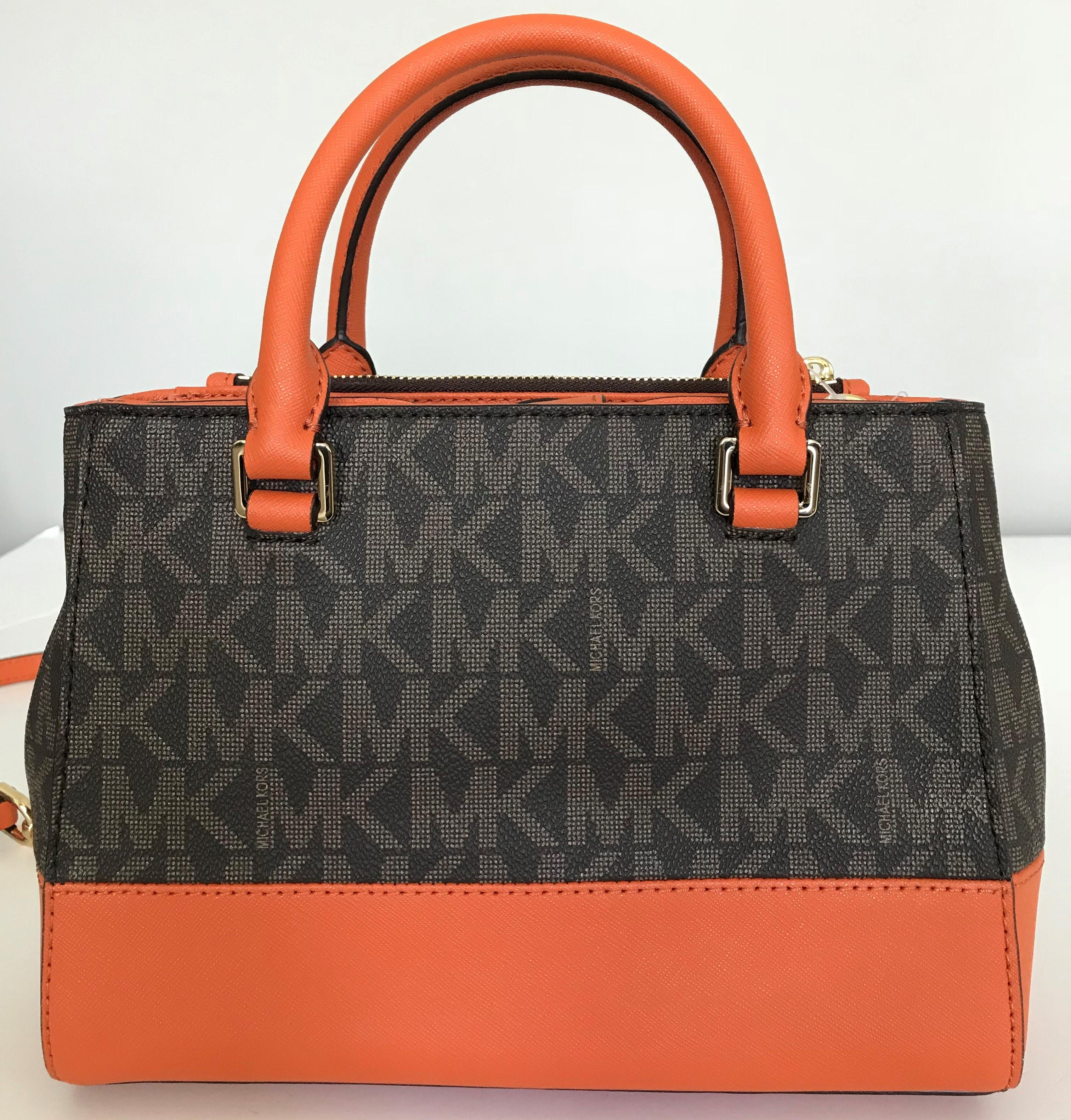 ff60f0a93e24 ... outlet 65cd0 4b8ad; norway michael kors satchel in tangerine orange  brown. 123456789 c7b8c 704d5