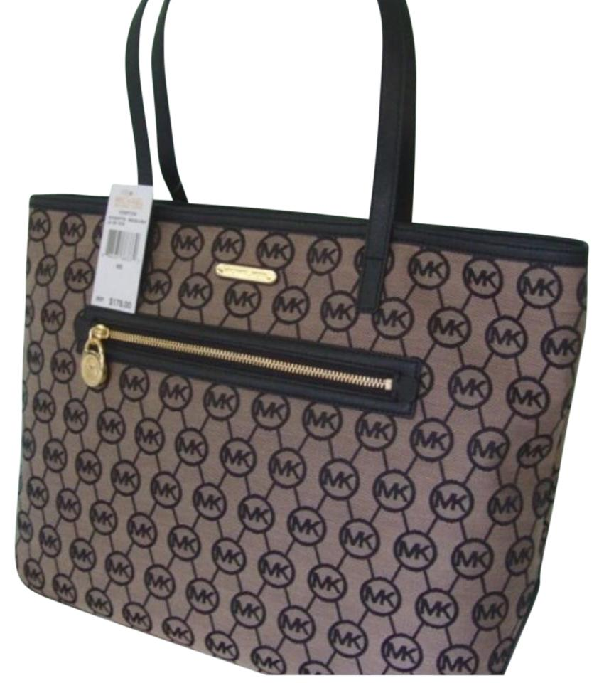 80538f4dc65b ... black signature medium shoulder tote jet 984fb eb59d; france michael  kors tote a1e46 4a56d