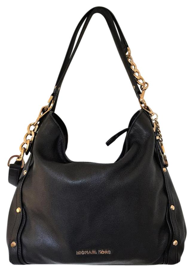 52c9ad66f06c ... cheapest michael kors leather studded cross body tote in black. michael  kors limited edition 6fcbb ...