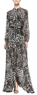 Michael Kors Leopard Animal Print Maxi Dress